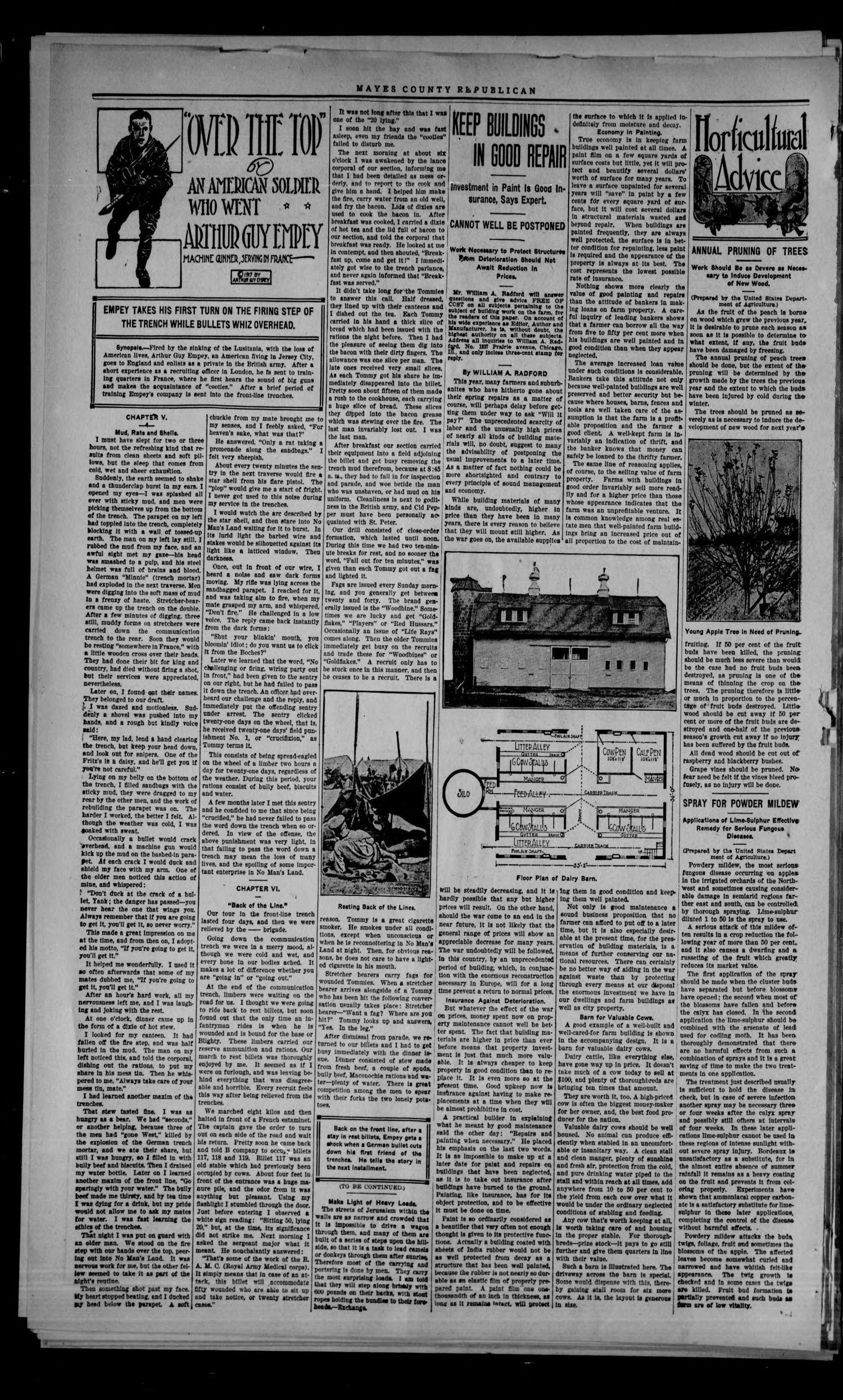 Mayes County Republican (Pryor, Okla.), Vol. 11, No. 19, Ed. 1 Thursday, July 4, 1918                                                                                                      [Sequence #]: 2 of 8