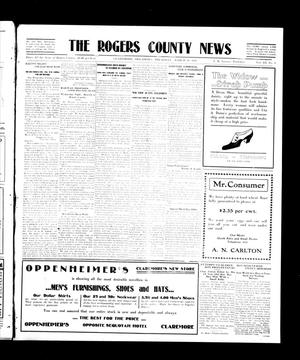Primary view of object titled 'The Rogers County News (Claremore, Okla.), Vol. 3, No. 4, Ed. 1 Thursday, March 30, 1911'.