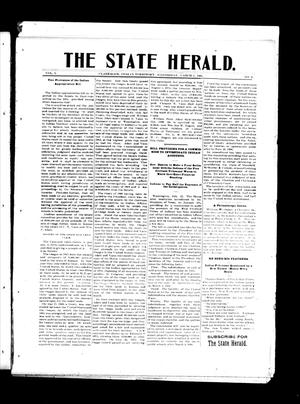 Primary view of object titled 'The State Herald. (Claremore, Indian Terr.), Vol. 1, No. 4, Ed. 1 Wednesday, March 1, 1905'.