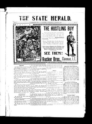 Primary view of object titled 'The State Herald. (Claremore, Indian Terr.), Vol. 1, No. 8, Ed. 1 Wednesday, March 29, 1905'.