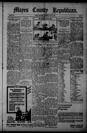 Primary view of Mayes County Republican. (Pryor, Okla.), Vol. 12, No. 21, Ed. 1 Thursday, July 17, 1919