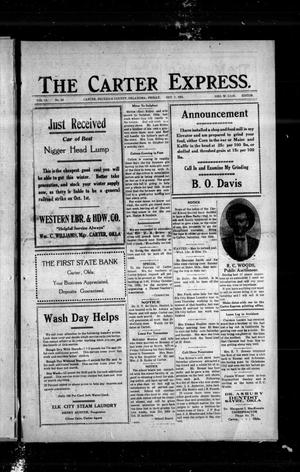 Primary view of object titled 'The Carter Express. (Carter, Okla.), Vol. 12, No. 29, Ed. 1 Friday, October 7, 1921'.