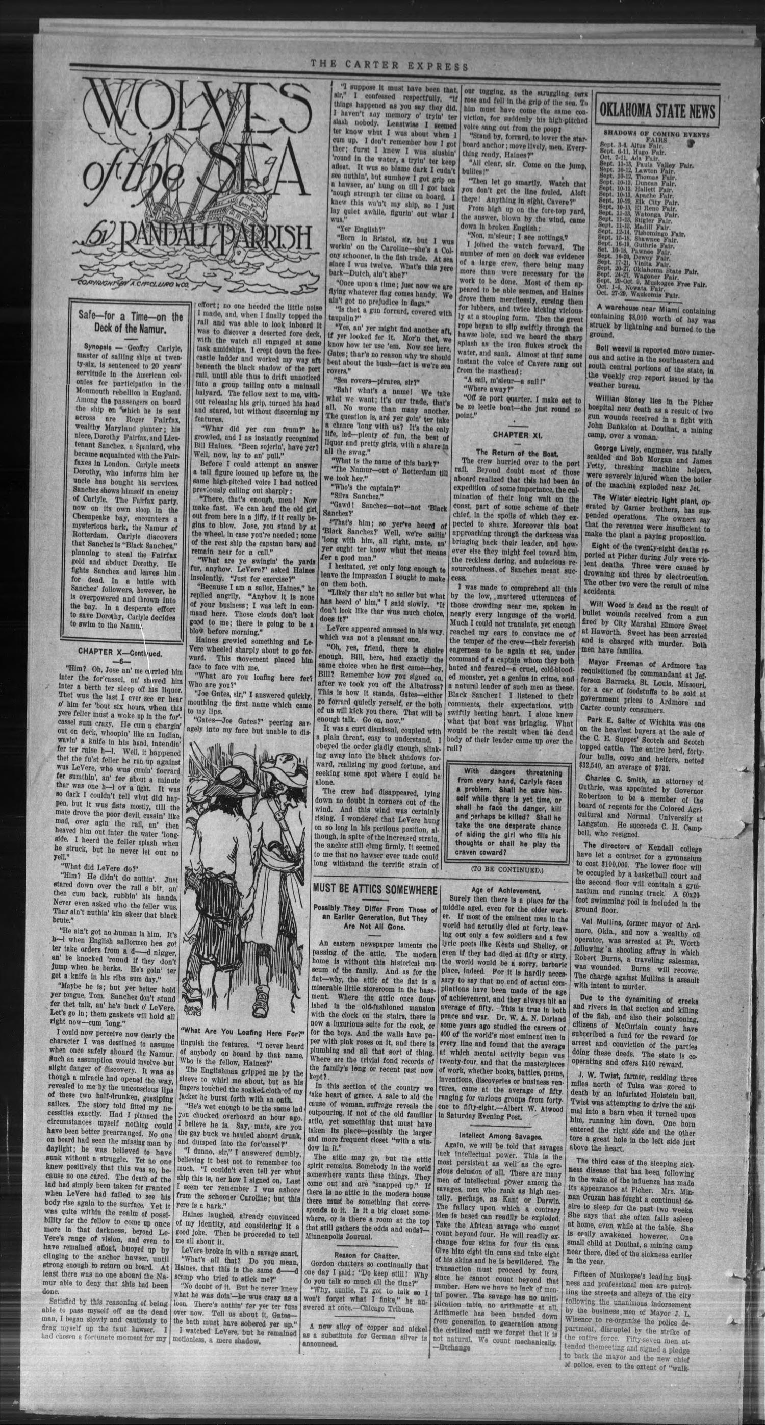 The Carter Express. (Carter, Okla.), Vol. 10, No. 22, Ed. 1 Friday, August 22, 1919                                                                                                      [Sequence #]: 2 of 8