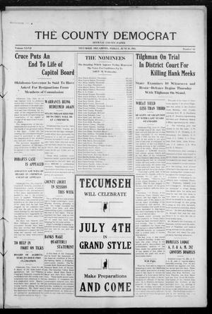 Primary view of object titled 'The County Democrat (Tecumseh, Okla.), Vol. 27, No. 42, Ed. 1 Friday, June 16, 1911'.