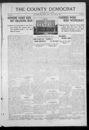 Primary view of object titled 'The County Democrat (Tecumseh, Okla.), Vol. 29, No. 17, Ed. 1 Friday, December 20, 1912'.