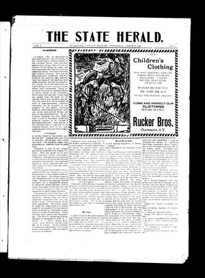 Primary view of object titled 'The State Herald. (Claremore, Indian Terr.), Vol. 1, No. 7, Ed. 1 Wednesday, March 22, 1905'.