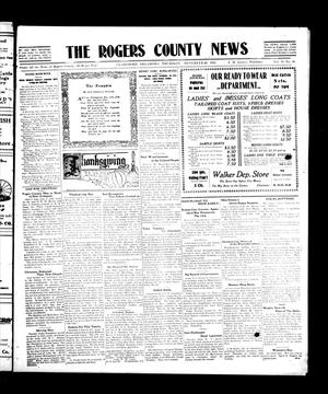 Primary view of object titled 'The Rogers County News (Claremore, Okla.), Vol. 2, No. 36, Ed. 1 Thursday, November 24, 1910'.