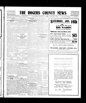 Primary view of object titled 'The Rogers County News (Claremore, Okla.), Vol. 2, No. 45, Ed. 1 Thursday, January 12, 1911'.