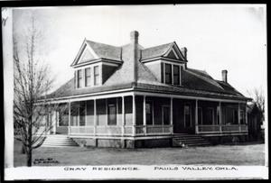 Primary view of object titled 'Gray's Residence in Pauls Valley, Oklahoma'.