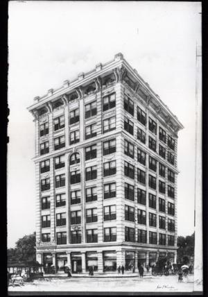 Primary view of object titled 'Fred S. Clinton Office Building in Tulsa'.