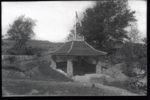 Primary view of object titled 'Pavillion at the Chickasaw National Park Recreation Area near Sulphur, Oklahoma'.