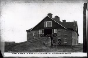 Primary view of object titled 'The Barn at Oklahoma State University in Stillwater, Oklahoma'.