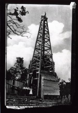 Primary view of object titled 'Oklahoma Oil and Gas Wood Well at Ada, Oklahoma'.