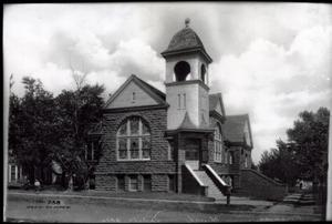 Primary view of object titled 'First Christian Church in Vinita, Oklahoma'.