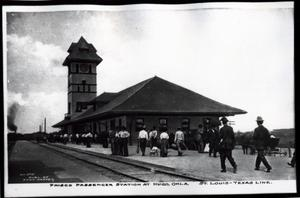 Primary view of object titled 'Frisco Passenger Station at Hugo, Oklahoma'.