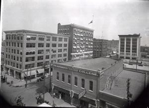 Primary view of object titled 'Downtown Skyscrapters in Pauls Valley, Oklahoma'.