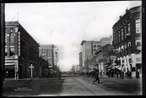 Primary view of object titled 'Broadway Avenue in Muskogee, Oklahoma'.