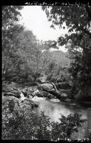Primary view of object titled 'Panther Falls at the Chickasaw National Park Recreation Area near Sulphur, Oklahoma'.