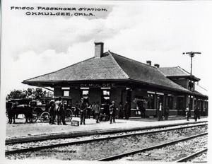 Primary view of object titled 'Frisco Passenger Station in Okmulgee, Oklahoma'.
