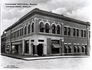 Primary view of object titled 'Citizen's National Bank in Okmulgee'.