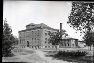 Primary view of object titled 'Building at Oklahoma State University in Stillwater, Oklahoma'.