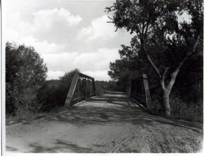 Primary view of object titled 'Approach to the New Bridge in Ponca City, Oklahoma'.
