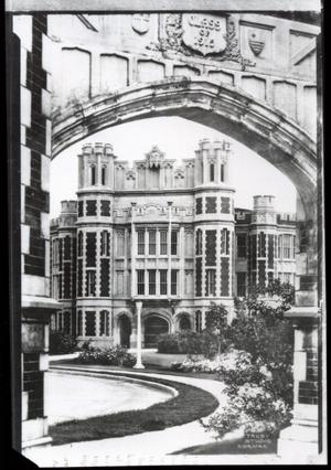 Primary view of object titled 'Main Entrance of Holmberg Hall at the University of Oklahoma in Norman, Oklahoma'.