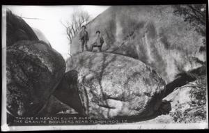 Primary view of object titled 'Granite Boulders at Devil's Den near  Tishomingo, Oklahoma'.