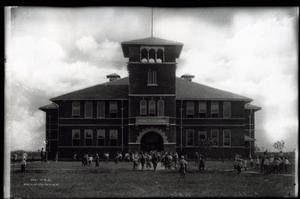 Primary view of object titled 'Afton Public School in Afton, Oklahoma'.