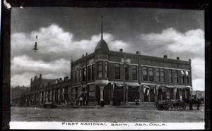 Primary view of object titled 'First National Bank in Ada, Oklahoma'.