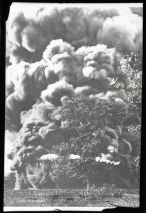Primary view of object titled 'Oil Tank Fire'.