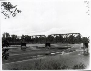 Primary view of object titled 'New Bridge over the Arkansas River in Ponca City, Oklahoma'.