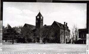 Primary view of object titled 'Old North Tower at Central State Normal College in Edmond, OK'.