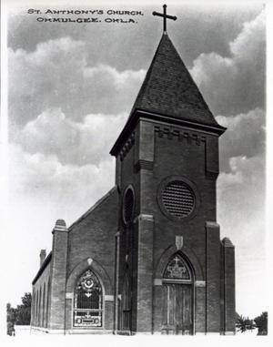 Primary view of object titled 'St. Anthony's Church in Okmulgee, Oklahoma'.