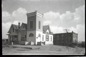 Primary view of object titled 'Sulphur Baptist Church in Sulphur, Oklahoma'.