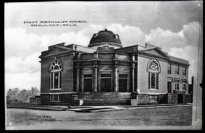 Primary view of object titled 'First Methodist Church in Okmulgee, Oklahoma'.