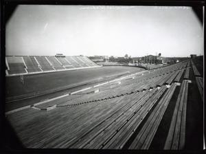 Primary view of object titled 'North Across the Football Stadium to the Field House  at the University of Oklahoma in Norman, Oklahoma.'.