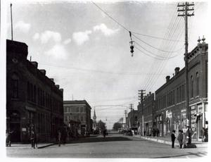 Primary view of object titled 'Russell Street in El Reno, Oklahoma'.