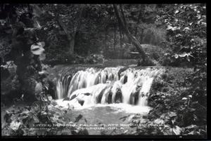 Primary view of object titled 'Little Niagra Falls at the Chickasaw National Park Recreation Area near Sulphur, Oklahoma'.