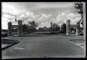 Primary view of object titled 'Entrance Arches and North Oval at the University of Oklahoma in Norman, Oklahoma'.