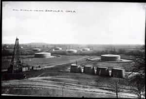 Primary view of object titled 'Oil Field near Sapulpa, Oklahoma'.