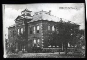 Primary view of object titled 'Chandler High School, Chandler, Oklahoma'.