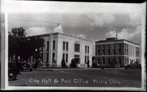 Primary view of object titled 'City Hall and Post Office in Vinita, Oklahoma'.