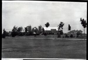 Primary view of object titled 'Beef Cattle Barn  at Oklahoma State University in Stillwater, Oklahoma'.