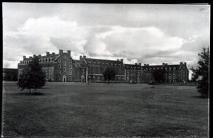 Primary view of object titled 'Cordell Hall Men's Dormitory  at Oklahoma State University in Stillwater, Oklahoma.'.