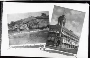 Primary view of object titled 'Pennington Creek and a Bank Building in Tishomingo, Oklahoma'.