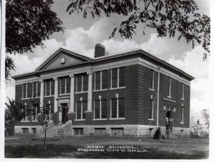 Primary view of object titled 'High School in Ponca City, Oklahoma'.