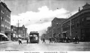 Primary view of object titled 'Broadway in Shawnee, Oklahoma'.