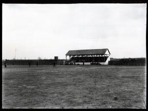 Primary view of object titled 'Ballfield and Grandstand in Guthrie, Oklahoma'.