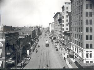 Primary view of object titled 'Broadway Street in Oklahoma City, Oklahoma'.